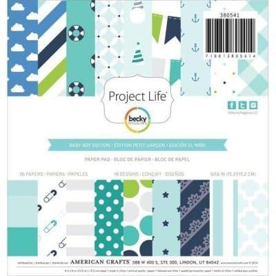 Project Life - Baby Boy 36fls 15x15cm Paper Pad